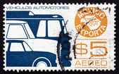 Postage stamp Mexico 1976 Motor Vehicle, Mexican Export — Stock Photo