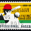 Postage stamp USA 1969 Batter, Player in Baseball — Stock Photo