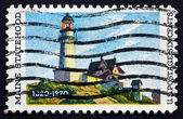 Postage stamp USA 1970 Lighthouse at Two Lights, Maine — Stock Photo