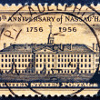 Postage stamp USA 1956 Nassau Hall, Princeton, New York — Stock Photo