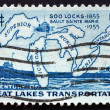 Postage stamp USA 1970 Map of Great Lakes — Stock Photo