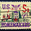 Stock Photo: Postage stamp US1964 Farm Scene Sampler