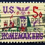 Postage stamp USA 1964 Farm Scene Sampler — Stock Photo #31321157