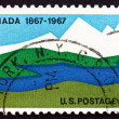Postage stamp USA 1967 Canadian Landscape — Stock Photo