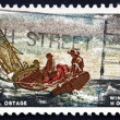 Stock Photo: Postage stamp US1962 Breezing Up, by Winslow Homer