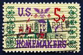 Poštovní známka usa 1964 farmě scény sampler — Stock fotografie