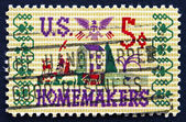 Postage stamp USA 1964 Farm Scene Sampler — Stock Photo