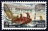 Postage stamp USA 1962 Breezing Up, by Winslow Homer — Stock Photo