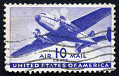 Postage stamp USA 1941 Twin-Motored Transport Plane — Stock Photo