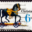 Postage stamp USA 1970 Toy Horse on Wheels, Christmas — Stock Photo