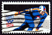 Postage stamp USA 1979 Speed Skating, Olympic Games, Lake Placid — Stock Photo
