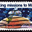 Stok fotoğraf: Postage stamp US1978 Viking 1, Robotic Space Probe