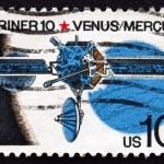 Postage stamp USA 1975 Mariner 10, Robotic Space Probe — Stock Photo