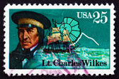 Postage stamp USA 1988 Lt. Charles Wilkes, Antarctic Explorer — Stock Photo