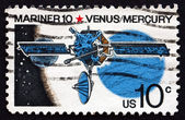 邮票 1975年美国水手 10,机器人空间探索 — 图库照片