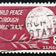 Postage stamp USA 1959 Globe and Laurel — Stock Photo
