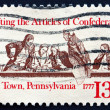 Stock Photo: Postage stamp US1977 Members of Continental Congress in Confer