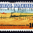Postage stamp USA 1974 Wheat Fields and Train — Stock Photo