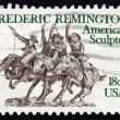 Postage stamp USA 1981 Sculpture by Frederic Remington — Stock Photo