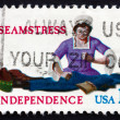 Postage stamp USA 1977 Seamstress — Stockfoto