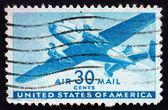 Avión de transporte en coche doble de estampilla usa 1941 — Foto de Stock