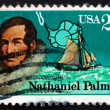 Postage stamp USA 1988 Nathaniel Palmer, Antarctic Explorer — Stock Photo