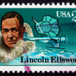 Postage stamp USA 1988 Lincoln Ellsworth, Antarctic Explorer — Stock Photo
