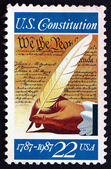 Postage stamp USA 1987 Signing of the Constitution — Stock Photo