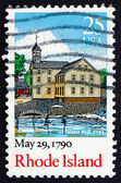 Postage stamp USA 1990 Rhode Island, Ratification of the Constit — Stock Photo