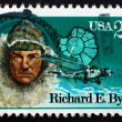Postage stamp USA 1988 Richard Evelyn Byrd, Antarctic Explorer — Stock Photo