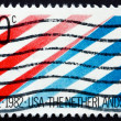 Postage stamp USA 1982 USA Netherlands Flag — Stock Photo