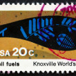 Stock Photo: Postage stamp US1982 Fossil Fuels