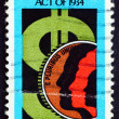 Postage stamp USA 1984 Dollar Sign and Coin — Stock Photo