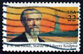 Postage stamp USA 1985 Frederic Auguste Bartholdi, French Sculpt — Stock Photo