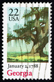 Postage stamp USA 1988 Georgia, Ratification of the Constitution — Stock Photo