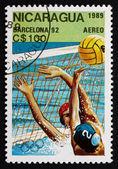 Postage stamp Nicaragua 1989 Water polo, 1992 Olympics, Barcelon — Stock Photo
