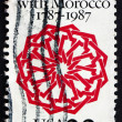 Postage stamp USA 1987 Arabesque, Dar Batha Palace, Fez — Foto de Stock