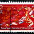 Postage stamp USA 1987 Runner in Full Stride — Stock Photo