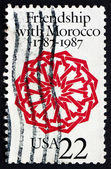 Postage stamp USA 1987 Arabesque, Dar Batha Palace, Fez — Stock Photo