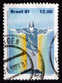 Postage stamp Brazil 1981 Christ the Redeemer Statue — Stock Photo