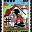 Postage stamp Peru 1977 Indian Nativity, Christmas — Stock Photo