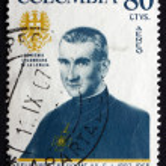 Постер, плакат: Postage stamp Colombia 1967 Father Felix Restrepo Mejia Theolog