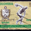 Postage stamp Colombia 1970 Arms of Ibague and Discobolus — Stock Photo #32482401