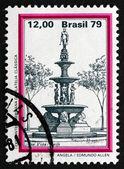 Postage stamp Brazil 1979 Fountain, Boa Vista, Recife — Stock Photo