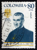 Postage stamp Colombia 1967 Father Felix Restrepo Mejia, Theolog — Stock Photo