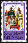 Postage stamp Grenada 1977 Coronation of Elizabeth II — Stock Photo