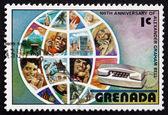 Postage stamp Grenada 1976 Globe and Telephone Users — Stock Photo