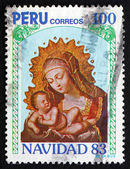 Postage stamp Peru 1983 Virgin and Child, Christmas — Stock Photo