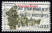 Postage stamp USA 1985 American Troops in Korea — Stock Photo