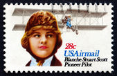 Postage stamp USA 1980 Blanche Stuart Scott, Pilot — Stock Photo